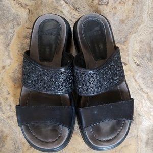 Dansko black sandals, size 37